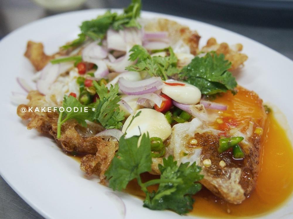 Extra Soei: Yam Kai Dao (ยำไข่ดาว), Thai Fried Egg Salad - THB 100