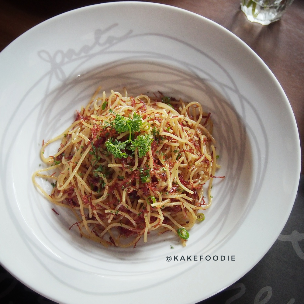 Spaghetti with Corned Beef and Fresh Chilies - IDR 98K++.