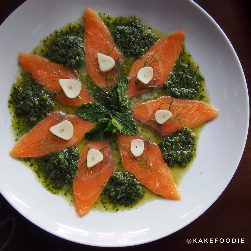 Salmon Carpaccio in Spicy Hot Sauce - IDR 88K++